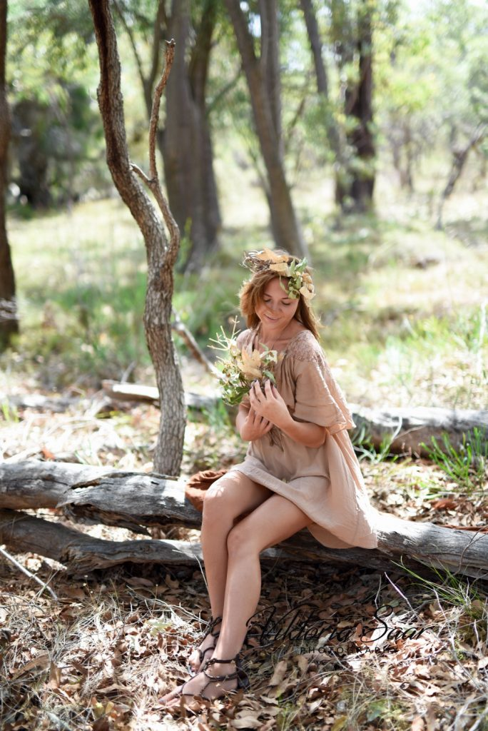 Pretty autumn fairy in Australian bushland