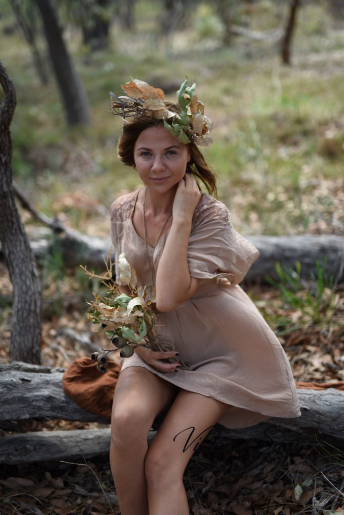 Autumn fairy session with young girl